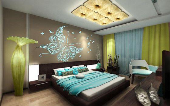 Yatak odas dekorasyon fikirleri wehbi cemal g nl k Bedroom wall designs in pakistan